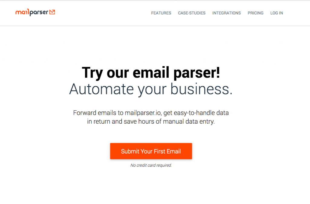 Our email parser tool