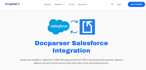 Docparser to Salesforce Integration for CRM Data Entry